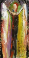 """(c) Dawn Corner 2013 10""""x20"""" Acrylic on Canvas For Sale at It's So Fabulous"""