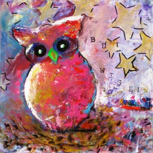 Owl Painting 1 (c) Dawn Corner 2013