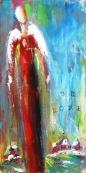 "(c) Dawn Corner 2013 Angel ""Be Home"" 12"" x 24"" Acrylic on Canvas"
