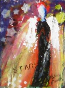 "(c) Dawn Corner 2013 Angel ""Stars"" 6"" x 8"""