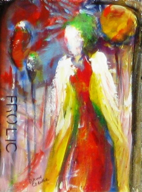 """(c) Dawn Corner 2013 Angel """"Frolic"""" 6"""" x 8"""""""