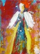 """(c) Dawn Corner 2013 Angel 6"""" x 8"""""""