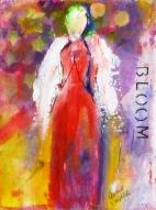 "(c) Dawn Corner 2013 Angel ""Bloom"" 6"" x 8"""
