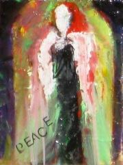 "(c) Dawn Corner 2013 Angel ""Peace"" 6"" x 8"""