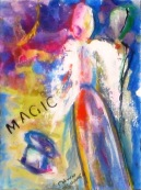 "(c) Dawn Corner 2013 Angel ""Magic"" 6"" x 8"""