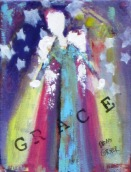 "(c) Dawn Corner 2013 Angel ""Grace"" 6"" x 8"""