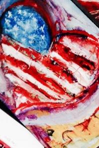 (c) Dawn Corner 2014  Heart & Flag 8x10