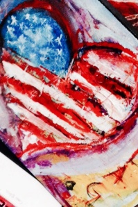 (c) Dawn Corner 2014  Heart & Flag 8x10